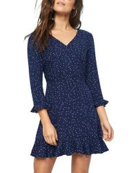 MINKPINK - Night Sky Frill Dress - Lyst