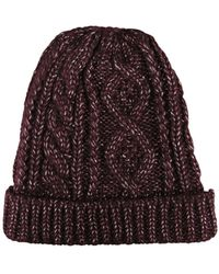 Morgan Taylor - Cable Knit Beanie - Lyst