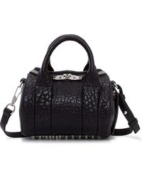 Alexander Wang - Mini Rockie In Pebbled Lamb With Rhodium Details - Lyst