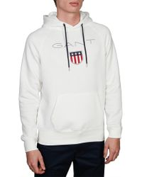 GANT - Eggshell Shield Sweat Pullover Hoodie - Lyst