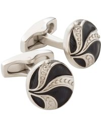 Simon Carter - Brushed Engraved Vintage Button Cufflink - Lyst