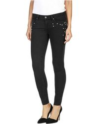 PAIGE - Verdugo Studded Heart Skinny Ankle Jean - Lyst