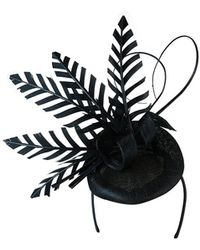 Morgan Taylor - Sinamay Beret With Cut Skeleton Feathers - Lyst