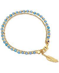 Astley Clarke   Blue Agate Feather Biography Bracelet   Lyst