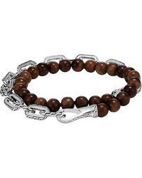 John Hardy - Classic Chain Wrap Bracelet In Silver With Wood - Lyst