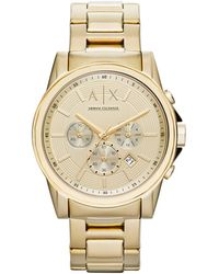 Armani Exchange - Ax2099 Gold-plated Watch - Lyst