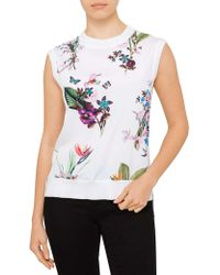 Ted Baker - Pueto Tropical Oasis Sleeveless Jumper - Lyst
