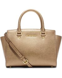 Michael Kors - Selma Medium Metallic Satchel - Lyst