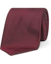 BOSS - Textured Plain Tie - Lyst