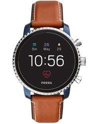Fossil - Q Explorist Brown Smartwatch - Lyst