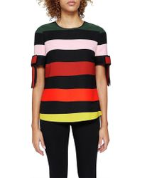 Ted Baker - Perrii Cruise Stripe Bow Cuff Top - Lyst