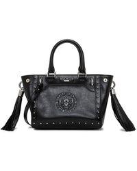 Balmain - Mini Top Handle Leather Bag - Lyst