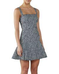 BY JOHNNY. - Spotty Dotty Bell Hem Mini Dress - Lyst