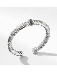 David Yurman - Cable Classics Bracelet With Black Diamonds, 7mm - Lyst