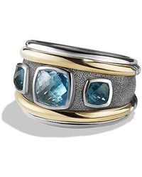 David Yurman - Renaissance Ring With Blue Topaz, Hampton Blue Topaz And 14k Gold - Lyst