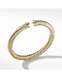 David Yurman - Cable Spira Bracelet In 18k Gold, 7mm - Lyst