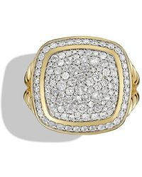 David Yurman | Albion Ring With Diamonds In 18k Gold | Lyst