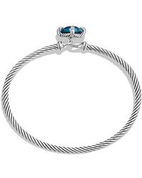David Yurman - Châtelaine® Bracelet With Hampton Blue Topaz And Diamonds, 9mm - Lyst