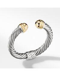 David Yurman - Cable Classics Bracelet With 14k Gold, 10mm - Lyst