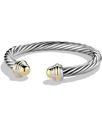 David Yurman - Cable Classic Bracelet With 14k Gold, 7mm - Lyst