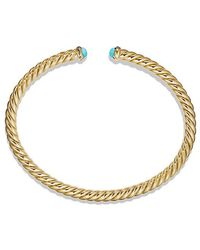 David Yurman - Cable Spira Bracelet With Pearls In 18k Gold, 4mm - Lyst