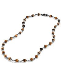 David Yurman - Spiritual Rosary Bead Necklace In Tiger Eye - Lyst