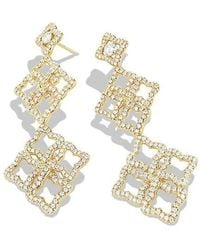 David Yurman - Venetian Quatrefoil Double-drop Earrings With Diamonds In 18k Gold - Lyst