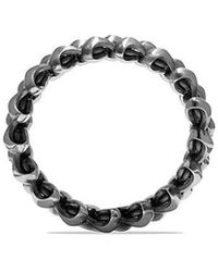 David Yurman - Armory Band Ring In Sterling Silver, 9mm - Lyst