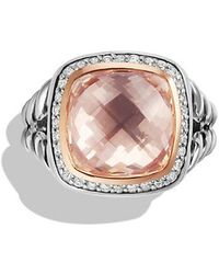David Yurman - Albion Ring With Morganite, Diamonds And 18k Rose Gold - Lyst