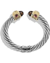 David Yurman - Renaissance Bracelet With Smoky Quartz, Peridot, And 14k Gold, 10mm - Lyst