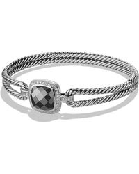 David Yurman - Albion® Bracelet With Hematine And Diamonds, 11mm - Lyst