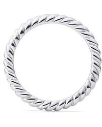 David Yurman - Dy Unity Cable Wedding Band In Platinum, 2.45mm - Lyst