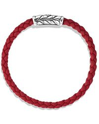 David Yurman - Chevron Woven Rubber Bracelet In Red, 6mm - Lyst