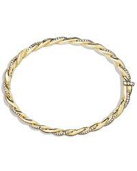 David Yurman - Wisteria Bracelet With Diamonds In 18k Gold, 5mm - Lyst