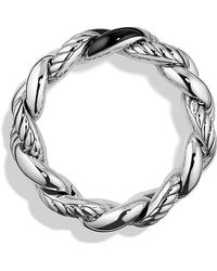 David Yurman | Belmont Curb Link Bracelet With Black Onyx, 25mm | Lyst