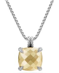 David Yurman - Châtelaine Pendant Necklace With 18k Gold And Diamonds - Lyst