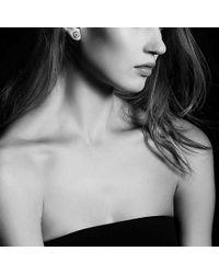 David Yurman - Crossover Earrings With Diamonds In 18k Gold, 11mm - Lyst