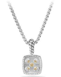 David Yurman - Petite Albion® Pendant Necklace With Diamonds And 18k Gold - Lyst
