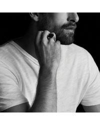 David Yurman | Knife-edge Signet Ring With Black Diamonds | Lyst