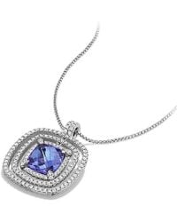 David Yurman - Chatelaine Pave Bezel Enhancer With Tanzanite And Diamonds In 18k White Gold, 26mm - Lyst