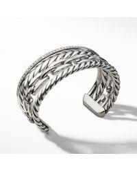 David Yurman - Wellesley Linktm Cuff With Diamonds, 27mm - Lyst