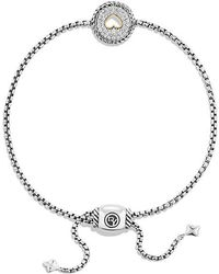 David Yurman - Cable Collectibles Heart Charm Bracelet With Diamonds With 18k Gold - Lyst