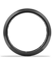 David Yurman - Streamline Beveled Edge Band Ring In Black Titanium, 6.5mm - Lyst