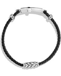 David Yurman - Exotic Stone Cross Station Leather Bracelet With Black Onyx - Lyst