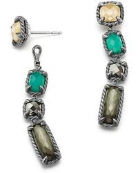 David Yurman | Chatelaine Mosaic Drop Earrings With 18k Gold | Lyst