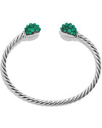 David Yurman - Osetra End Station Bracelet With Green Onyx - Lyst