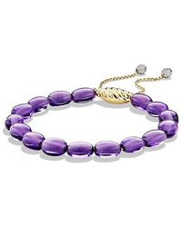 David Yurman - Spiritual Bead Bracelet With Amethyst And Diamonds In 18k Gold - Lyst