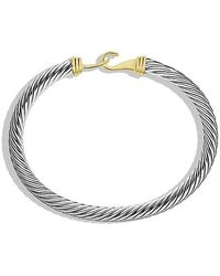 David Yurman - Cable Classic Buckle Bracelet With 14k Gold, 5mm - Lyst