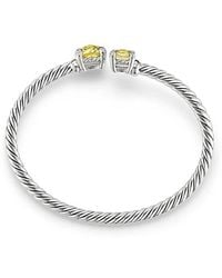 David Yurman | Chatelaine® Bypass Bracelet With Lemon Citrine And Diamonds | Lyst