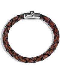David Yurman | Chevron Bracelet In Brown Leather | Lyst